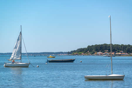 Cap Ferret, Arcachon Bay, France. View over the Bay in Claouey