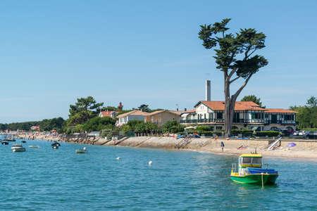 Arcachon Bay, Cap Ferret in summer 스톡 콘텐츠