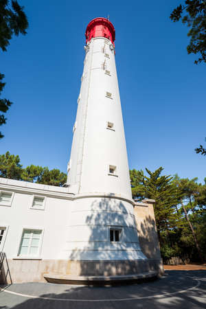 The lighthouse of Cape Ferret on the Arcachon Bay, France