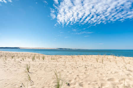 The point of Cap Ferret on the Arcachon Bay, France