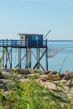 Charente Maritime, France. Fishing hut on stilts called Carrelet
