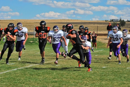linemen: Kiowa, CO, October 9, 2010- Elbert High School vs Kiowa High School