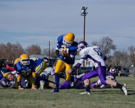 Simla, CO, 11122011, CO 2011 State Quarterfinals 8-man football game: Elbert High School versus Simla High School