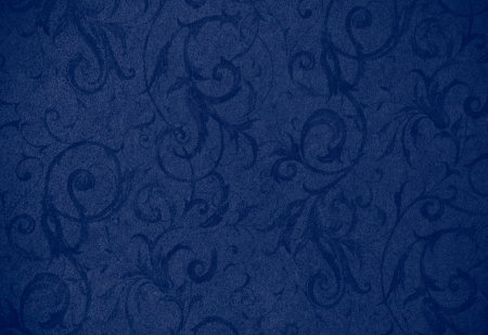 stylish navy blue swirl texture or background with lovely floral and vine curls and patterns photo