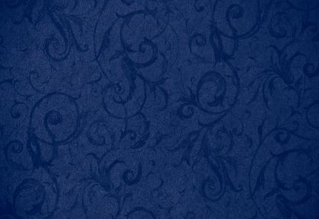 granatowy: Stylowy granatowy tekstury wirować lub tÅ'o z piÄ™knych kwiatów i winoroÅ›li loki i wzorów Zdjęcie Seryjne