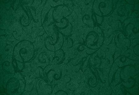 painterly: stylish green swirl texture or background with lovely floral and vine curls and patterns