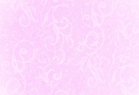 stylish faded pink swirl texture or background with lovely floral and vine curls and patterns
