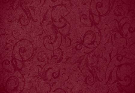 red swirl: elegante struttura scuro rosso turbolenza o di sfondo con una bella riccioli e motivi floreali e della vite