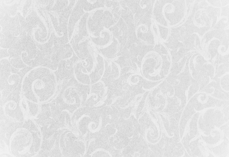 stylish silver and white swirl texture or background with lovely floral and vine curls and patterns photo