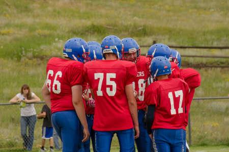 Cripple Creek, CO, 08/31/2013, Football game: Elbert High School versus Cripple Creek-Victor High School Stock Photo - 22450676