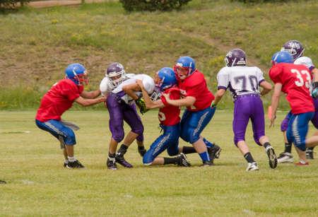 Cripple Creek, CO, 08/31/2013, Football game: Elbert High School versus Cripple Creek-Victor High School Stock Photo - 22450685
