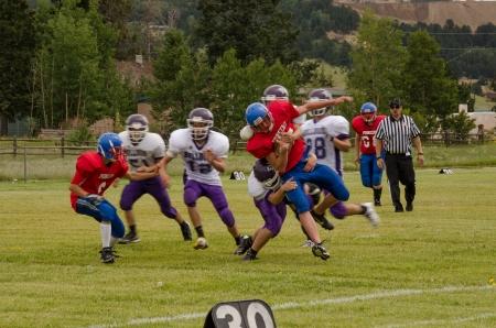 Cripple Creek, CO, 08312013, Football game: Elbert High School versus Cripple Creek-Victor High School Editorial