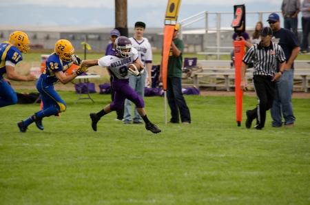 linemen: Sargent, CO, 09142013, Football game: Elbert High School versus Dove Creek High School