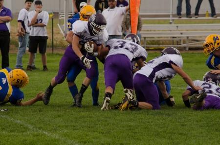Sargent, CO, 09142013, Football game: Elbert High School versus Dove Creek High School