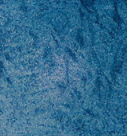 눈에 띄는 잔물결 주름 및 풍선 캔버스 배경에 파란색 스테인드 글라스 질감 효과