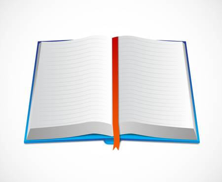 Icon of open book Vector