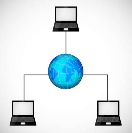 Laptop network Illustration