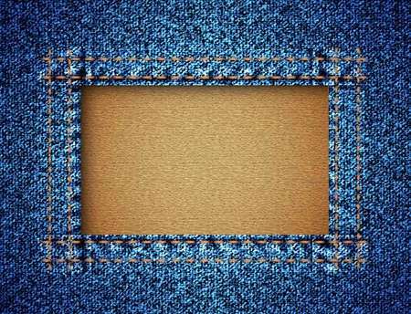 Jeans texture with frame Vector