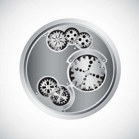 gearwheel: Clock inside
