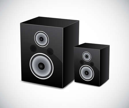 Two loudspeakers Stock Vector - 14799540