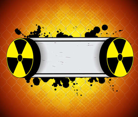 toxic substance: Radiation background Illustration