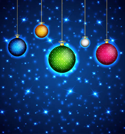 christmas religious: Christmas background with christmas balls Illustration