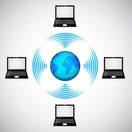 Wireless network. Raster version