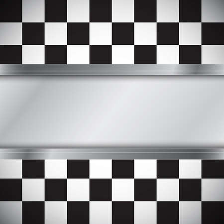 Checkered flag with frame Illustration