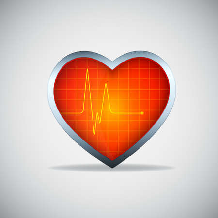 Heart with pulse Stock Vector - 16958803