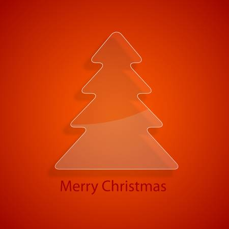 Glass christmas tree Stock Vector - 17019373