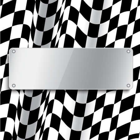 Checkered flag Stock Illustratie