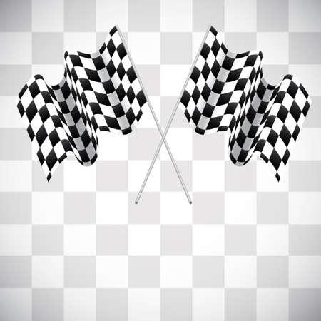 bandera carrera: Fondo con banderas a cuadros