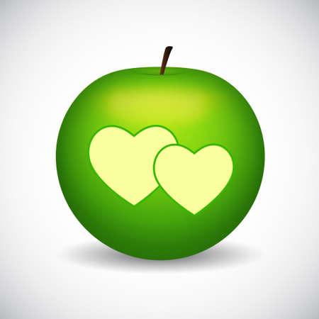 bite apple: Green apple