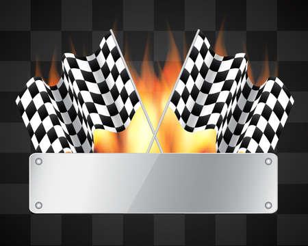 drag race: Fondo con banderas a cuadros