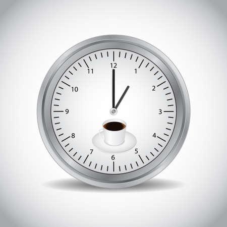 Icon of clock Stock Vector - 17105300