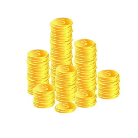 currency glitter: Golden coins