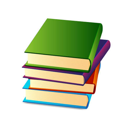 Stack of books Stock Vector - 17304737