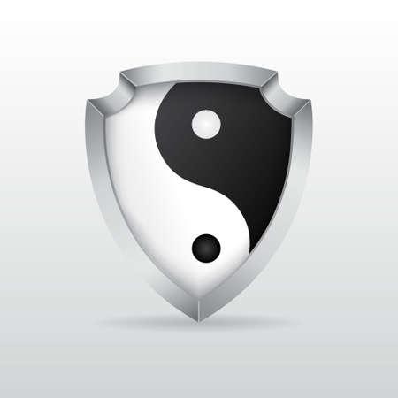 yin yang: Shield with yin yang
