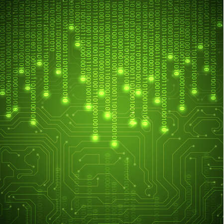 circuito integrado: Binary fondo Vectores
