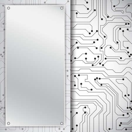 mother board: Technology background Illustration