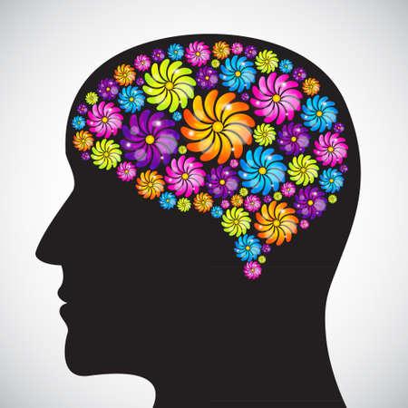 Mind profile Stock Vector - 18026577
