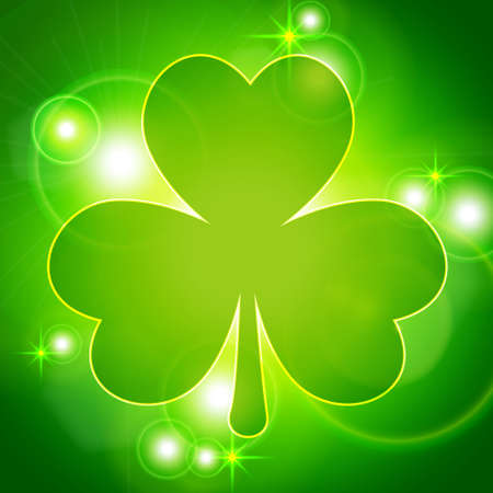 Abstract background with clover Vector