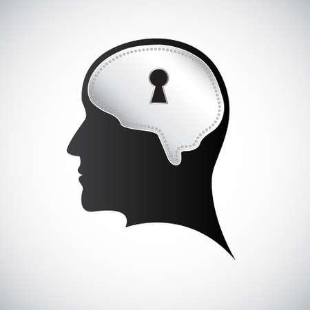 Mind keyhole Illustration