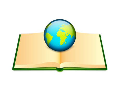 Open book Stock Vector - 18119219