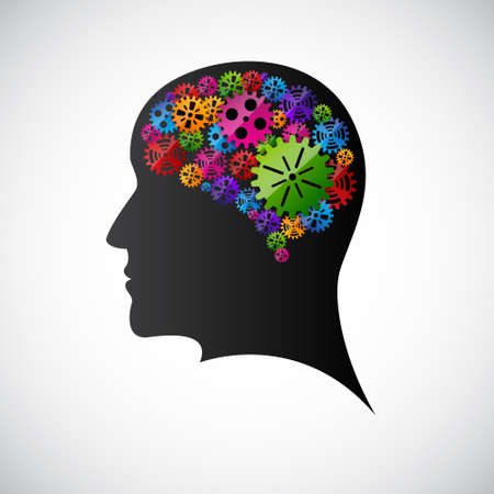 person thinking: Engranajes en el perfil de cuenta