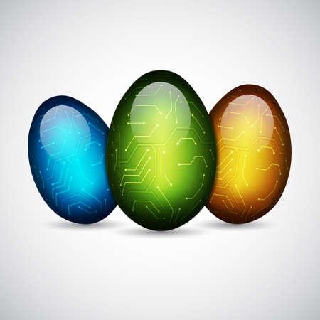 Technology easter eggs Vector