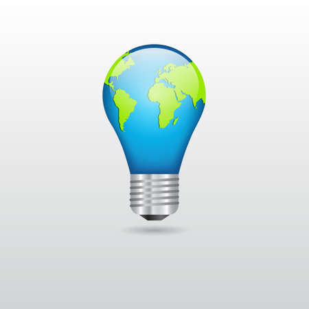 Bulb with planet