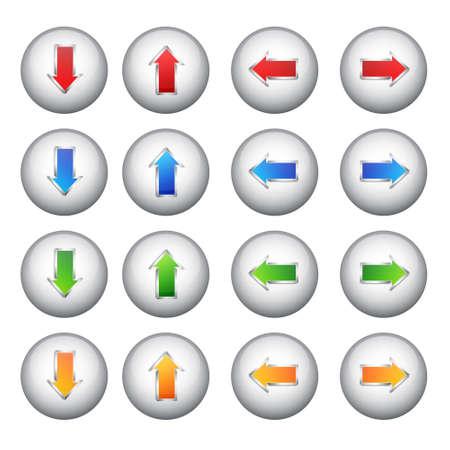 Set arrows buttons Stock Vector - 19157115