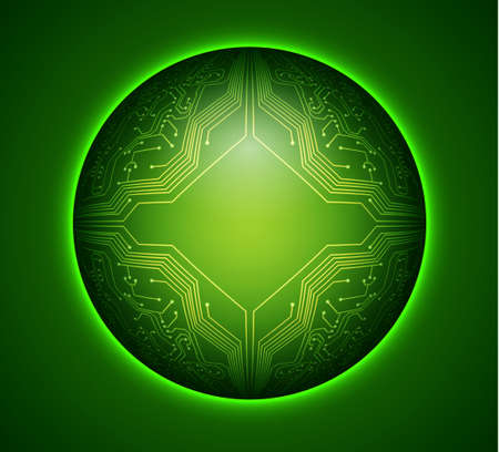 green board: Circuit board background