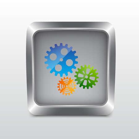 Media social icon Stock Vector - 19439842